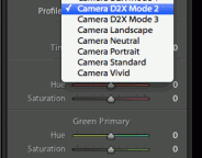 Camera D2X Mode 2